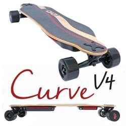 Curve v4 - Longboard électrique puissant, double moteur, plateau flex