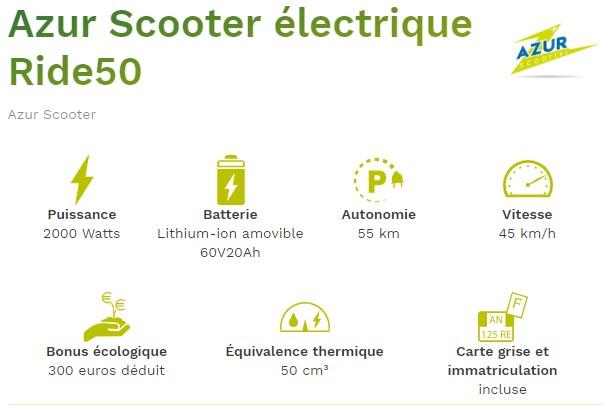 Scooter électrique Ride50