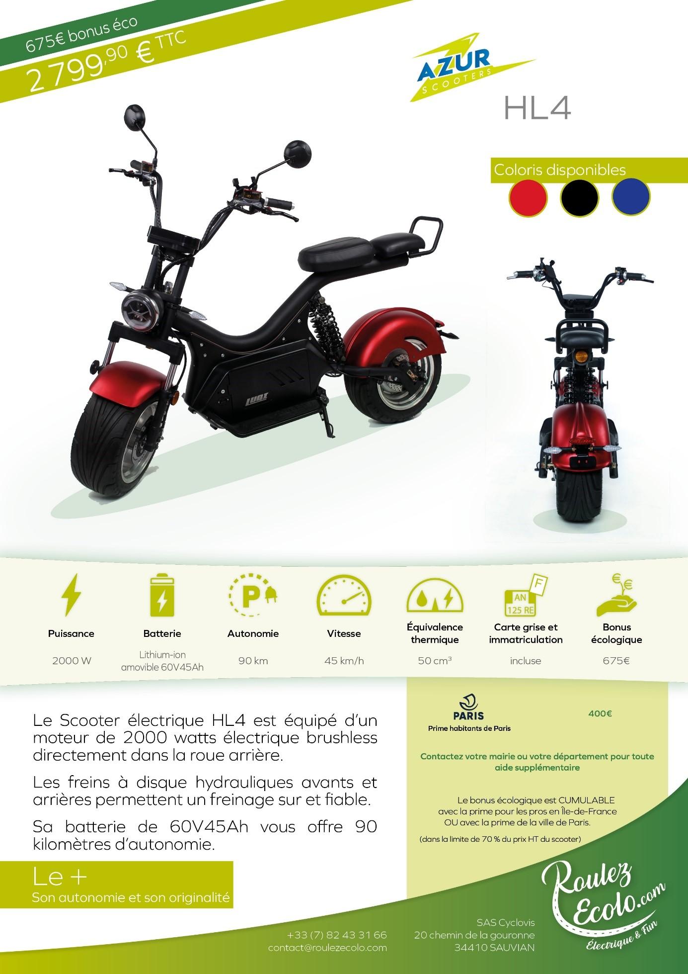: Scooter électrique Luqi HL4